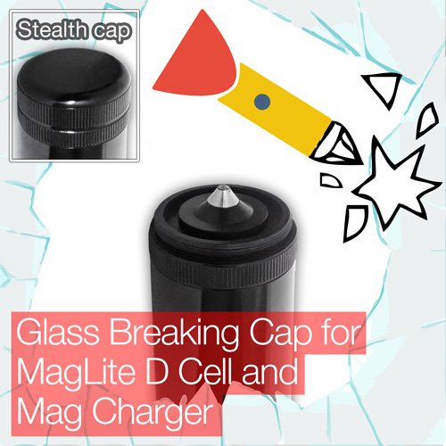Tasche Unauffälliger Glas Breaking Ende/Tail Cap Maglite D Cell Mag Charger Taschenlampe/Taschenlampe Maglite Mag-charger