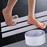Rutschfeste Grip Tape Treppe Badewanne reifenprofile Dusche Badewanne rutschfest Gummi selbstklebend Hohe Reibung Traction Grip Tape für Kinder Regenten Sicherheit, durchsichtig, 50mm*5m