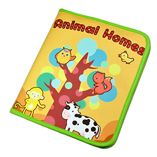 PER Baby Activity Books Animal Home Non-Toxic Baby's First Learning Book With Handle Basic Life Skill Educational Toys For 0-3 Years Babies Toddlers Kids