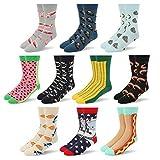 RioRiva Socken herren | Gemustert und gefärbt | Feine Baumwolle | Beruf Anzug Freizeit Funny | Ringelsocken kariert gepunktet | Gift-oder Mehrfachpack (BSK57-10 Paare Mehrfarbig, EU 41-46/UK 8-12)