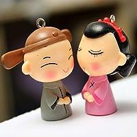 Bluelover Mini sposa sposo Micro paesaggio decorazioni giardino Decor fai da TE