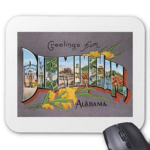 Birmingham Alabama Al -2 Mouse Pad 7.08X8.66 inches/18X22 cm Alabama Laser