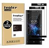 iVoler [Pack de 2] Verre Trempé pour Sony Xperia XA2 Plus, [Couverture Complète] Film Protection en Verre trempé écran Protecteur Vitre (Noir)