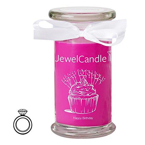 JewelCandle Happy Birthday - Bougie parfumée Bijou Surprise en Arg