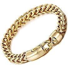 GYJUN Hombre Cadenas y esclavas Moda Acero inoxidable Chapado en Oro 18K de oro Forma Geométrica Joyas , golden