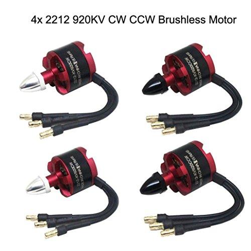 Drone Brushless Motor, [42212920KV Bürstenloser Motor CW CCW für DJI F330F450F550X525] Quad Multi Verwendung, rot