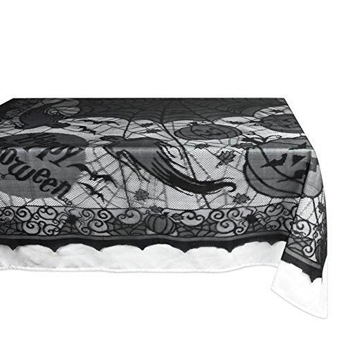 Etelux nero pizzo nero zucca di Halloween Theme tovaglia tovaglia rettangolare 215,9x 156,2cm