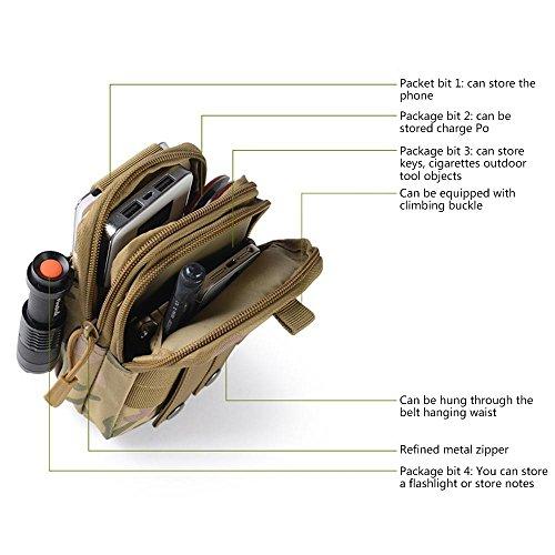 Pawaca Outdoor Reisen Sport Taktische Tasche,Outdoor Sport Tasche Tools Organizer Taille Taschen Pack - Multifunktional für Camping Reise Wandern Dschungel-Camouflage