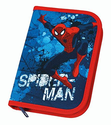 Unbekannt Scooli SPON0440–Estuche Doble con diseño de Spiderman, de STABILO, con Materiales (30Piezas, con Dos Pisos), Color Azul