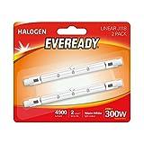 Eveready Eco Halogen 230W (300W Äquivalent) Linear Glühbirne, 2Stück, R7s, 300W