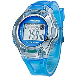Silvercell Child Sports Multifunction Waterproof Electronic Wrist Watch Blue