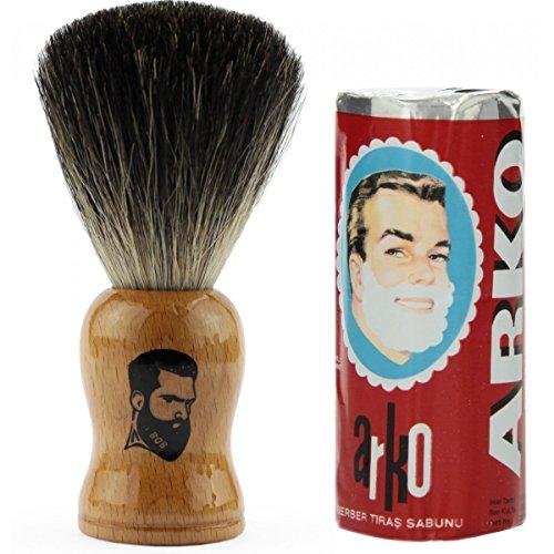 rusty-bob-afeitarse-hecha-de-genuina-pelo-de-tejon-y-jabon-de-afeitar-arko-hellbraun
