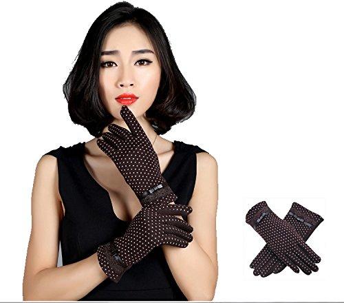 Gants Femme, Gants Tactiles (10 doigts) pour iPhone Samsung et Smarphones, Pershoo Gants Tactiles Hiver Adulte avec Doublure Chaud Compatible Avec Écran Tactile, Gants d'hiver Chauds Gants Tactile Spo Marrom