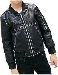 MissChild Giacche ecopelle Bambini ragazzo - Giubbotti finta pelle moto  autunnali invernali bambino - Cappotti manica ae60dc4c565