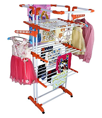 Parasnath 3 Poll 3 LAYER CLOTHES HANGER DRYING RACK PORTABLE GARMENT CLOTH DRYER (Lifetime Warranty*MADE IN INDIA)
