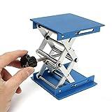 Jack, Gochange supporto 10,2cm ossido di alluminio laboratorio sollevatore piattaforma/sollevamento pieghevole tavolo Pad altezza ricambio ideale per lavoro, fisica, chimica, biologico esperimenti