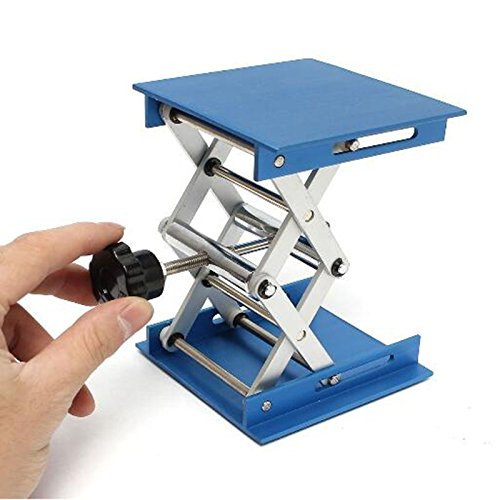 GoChange Hubtisch, Aluminiumoxid, Hubladefläche, klappbarer, Höhenkontrolle, ideal für körperliche, chemische, biologische Experimente im Labor, 10,2cm