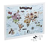 Magnetic Maps to draw, pin and plan your travels (Around the World)