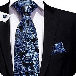 Hi-Tie - Corbata - para hombre, azul/negro, talla única
