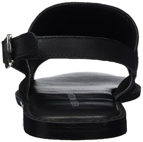 Vero Moda Vmmea Leather, Sandales Bride Arrière Femme Noir (Black)