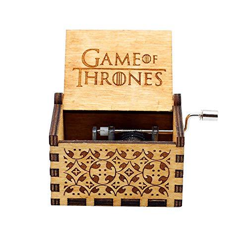 Reine Hand-Klassischen Musik-Box -Game of Thrones Thema Holz Musik Box, Hand-hölzerne Spieluhr Kreative Holz Handwerk Kinder, Freunde