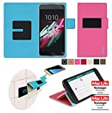 Alcatel OneTouch Idol 3C Hülle in pink - innovative 4 in 1