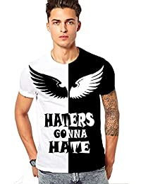 GS RETAILS Black And White T-Shirts For Mens