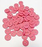 5 Knöpfe rosa 14 mm