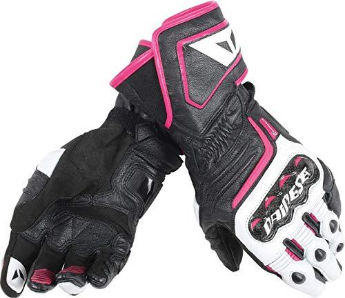 Dainese Carbon D1 Long Damen Handschuhe M Schwarz/Weiß/Pink