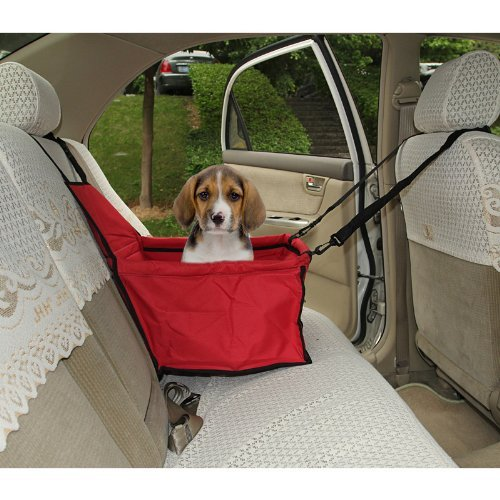 LAGUTE Auto Hundetransportbox Transportkorb Tiertragetasche Transporttasche Transportbox für Tier *Rot* -