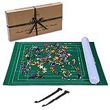 Jaques of London Aufblasbare Puzzle-Rolle bis zu 1500 Stück - Puzzle-Matte mit faltbarem Stoff - Puzzle-Roll-Up-Board-Rohre m