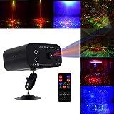 KOBWA Party Lights DJ Disco Licht 48 Muster RGB Strobe LED Projektor Bühneneffekt Karaoke Führen mit Drahtloser Fernbedienung für Geburtstag Hochzeit KTV Bar Nachtclub Weihnachtsschmuck
