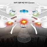 (D16-W) deAO® WIFI FPV FUNCIÓN 3D 4CH 2.4GHz 6 EJES Gyro RC DRONE con CAMARA INTEGRADA HD 720P - RECEPCIÓN DE IMAGEN A TIEMPO REAL PARA SISTEMAS IOS & ANDROID