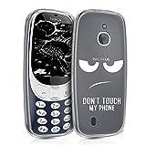 kwmobile Nokia 3310 3G 2017 / 4G 2018 Hülle - Handyhülle für Nokia 3310 3G 2017 / 4G 2018 - Handy Case in Weiß Transparent