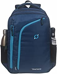 Murano Java 23 LTR Laptop Backpack for 15.6 inch Laptop and Polyester Water Resistance Backpack for Men and Women- Navy Blue