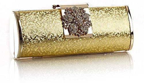 Il piccolo Hotel donna alla moda lucida, stanotte partito 22 x 10 x 5 cm Borsa econdo (L x A x P) Oro (oro)