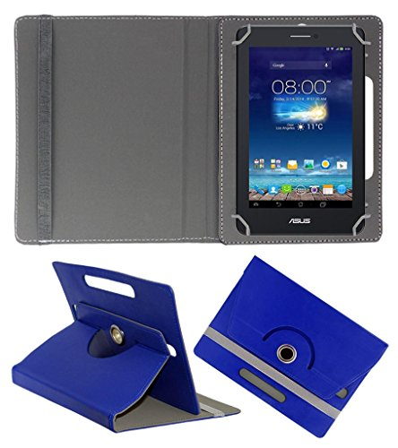 Acm Rotating 360° Leather Flip Case For Asus Fonepad 7 Me175cg-1a007a Tablet Stand Cover Holder Dark Blue  available at amazon for Rs.149