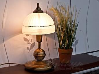 jugendstil tischleuchte in einem kr ftigen bronzeton e14 fassung mit kabelschalter tischlampe. Black Bedroom Furniture Sets. Home Design Ideas