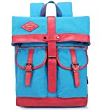 KAXIDY Laptoptasche Vintage Ledertasche Rucksack Collegetasche Lehrertasche Schultasche Multifunktionsrucksack