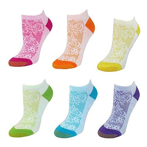 Gold Toe Damen Sportsocken, Geblümt mehrfarbig mehrfarbig Einheitsgröße Gr. Einheitsgröße, multi (Gold Liner Toe)