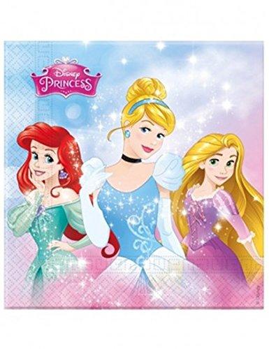 Ciao Procos 86888–Servietten Papier Disney Princess Enchanting Storis, 20Stück, Pink/Hellblau
