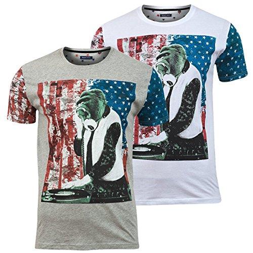 Brave Soul -  T-shirt - Uomo Bianco