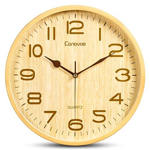 ZHDC® Wooden Uhren Living Room Wanduhr Kunst Creative Mute Die Uhr Persönlichkeit Einfache Schlafzimmer mit Quarz-Uhr Hauptwanduhr ( größe : 31*31cm ) (31 Tag-uhr Pendel)