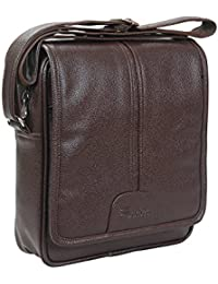 Easies Brown Color Synthetic Leather Trendy Medium Size Sling Bag For Men For Daily Use By Exclusive Fashion Luggage