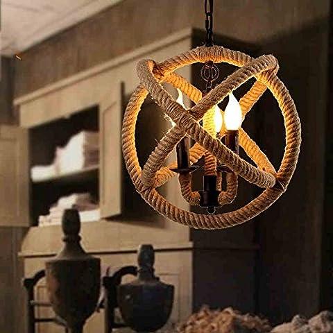 Deco soggiorno di Natale albergo ristorante camera da letto Corda di fatto a mano palla pendente (42cm) , 35cm-YU&XIN
