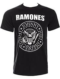 Ramones Presidential Seal Logo oficial Rock Metal música para hombre negro T-Shirt