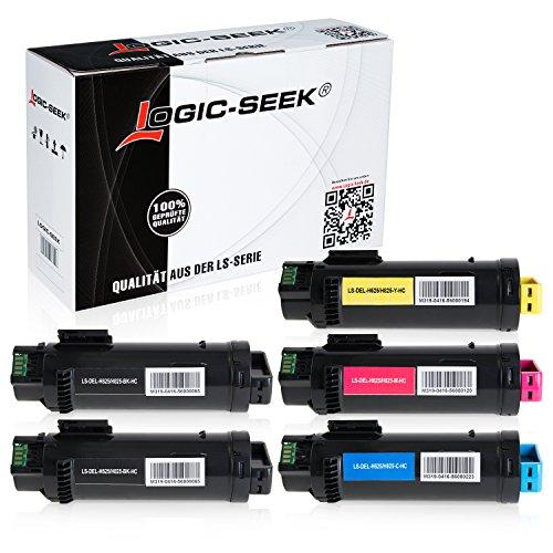 5 Series Toner (Logic-Seek® 5 Toner kompatibel zu Dell H625 H825 CDW H820 Series S2825 CDN - Schwarz je 3.000 Seiten, Color je 2.500 Seiten)