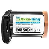 Akku-King Akku kompatibel mit Canon LP-E4 Li-Ion - 2600mAh mit Samsung Zellen - für EOS 1D Mark III, 1D Mark IV (EOS-1D X Dieses Modell ohne Restlaufzeitangabe)