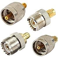 4pcs kit adaptador de RF Conector SMA de PL259a SO239montaje conector WiFi Antena enchufe para aficionados de prueba de radio Walkie Talkie Baofeng UV-5R