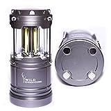 Wild Endeavours 300lm magnetische LED-Laterne - ultra helle starke zusammenklappbare Lampe - großes Licht für das Kampieren, Garage, Auto, Schuppen, Loft, Wandern u. Notfälle - Garantie eingeschlossen